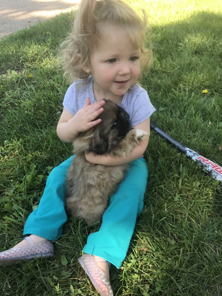 Creek Side Kennels Oberling KS kansas daughter and puppy
